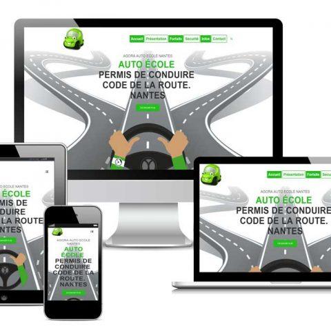 site-internet-agora-auto-ecole-web
