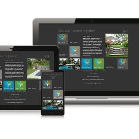 Création du Site internet  Rouillon Créateur  paysagiste Deux-Sèvres (79)