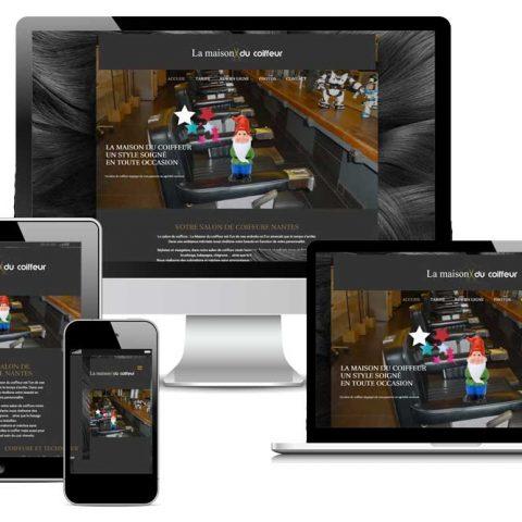 Refonte du Site internet de la Maison du coiffeur à Nantes (44)