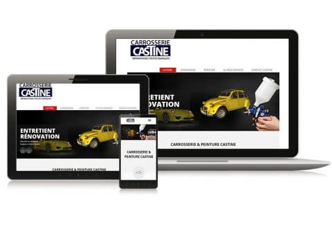 """Site internet """"Carrosserie-Castine"""" Côtes-d'Armor (22)"""