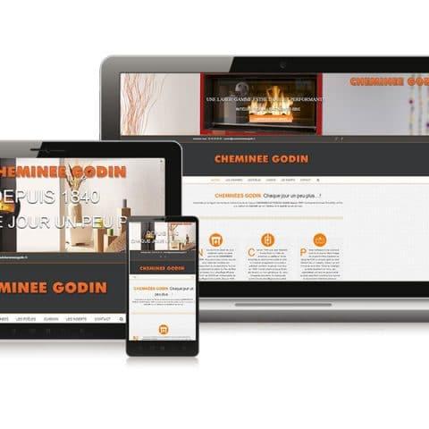 """Création du Site internet  """"Cheminées et Poêles Godin"""" à Nantes (44)"""