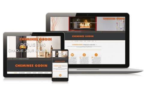 """Site internet """"cheminées godin"""" à Nantes (44)"""