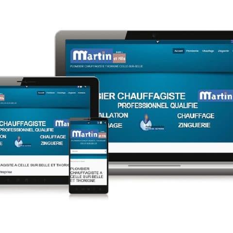 """Réalisation du Site internet""""Martin et Fils"""" Plombier dans les Deux Sèvres (79)"""