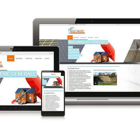 "Création du Site internet ""Sarl Methay-Phelippeau"" Maçon en Vendée (85)"