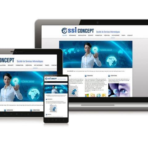 """Réalisation du site internet """"ssi-concept"""" Informatique à Nantes (44)"""