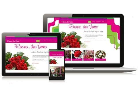 """Site internet """"Roses des Vents"""" fleuriste dans le Finistère (29)"""