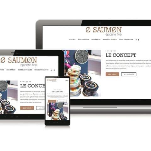 """Création du Site internet  """" O-Saumon"""" épicerie fine à Nantes (44)"""