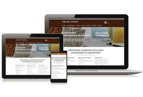 """Site internet """"Roy-Couteau"""" Menuisier Deux-Sèvres (79)"""