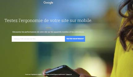 Google Test site mobile