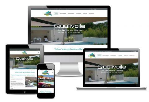 Site internet responsive Qualivoile