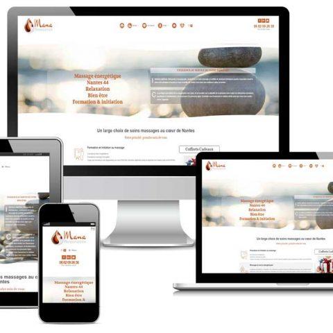 Création du site internet mana ressources  entreprise de massage et bien être à Nantes 44