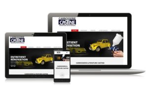 "Site Vitrine Garage auto ""Carrosserie Castine"""