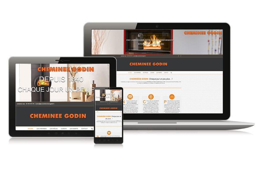 Site web catalogue cheminées et poêles Godin