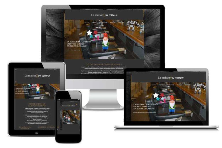 Site Web coiffure: La Maison du Coiffeur (44)