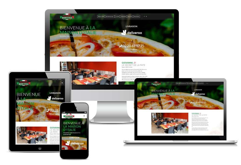 Site internet Pizzeria La Maison d'Italie Nantes