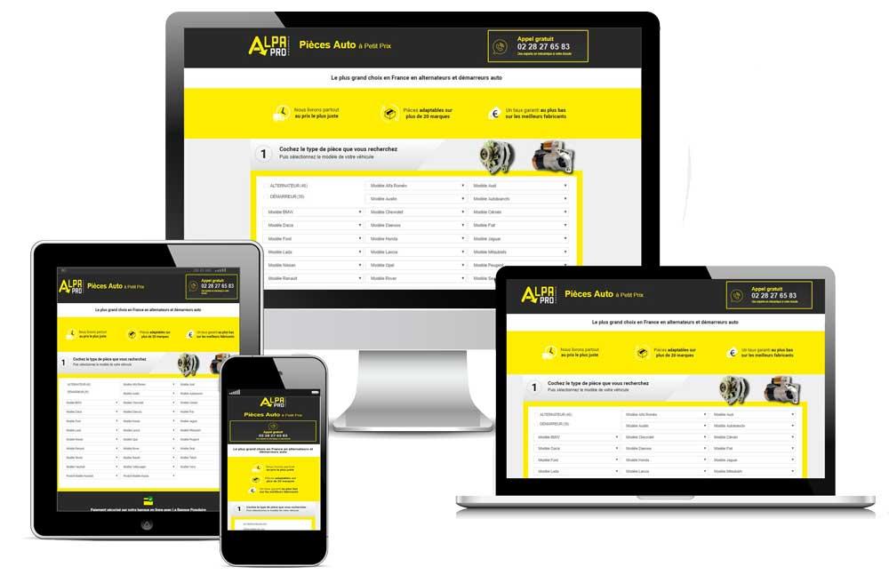 Site e-commerce Alpa Pro Nantes