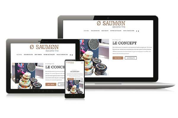 Site catalogue magasin «O-Saumon» Nantes