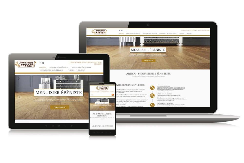 Site Web vitrine menuisier