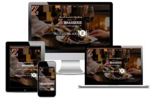 Site web vitrine Restaurant Z-Brasserie Strasbourg