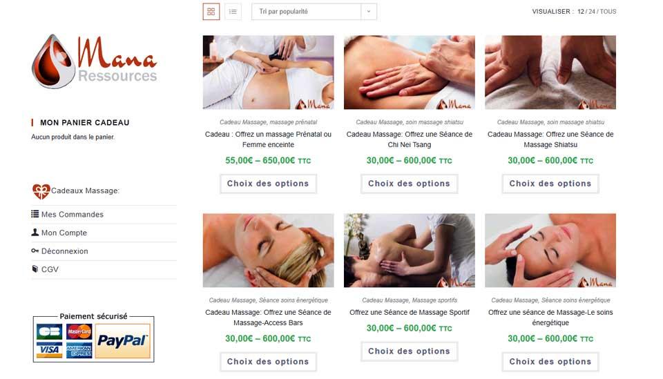 Produit unique site e-commerce