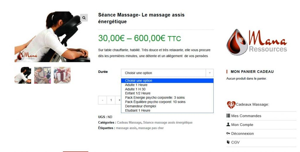 Variation prix site e-commerce