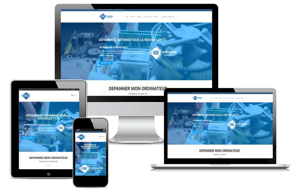 Réalisation Site internet: ISE Informatik-services La Rochelle