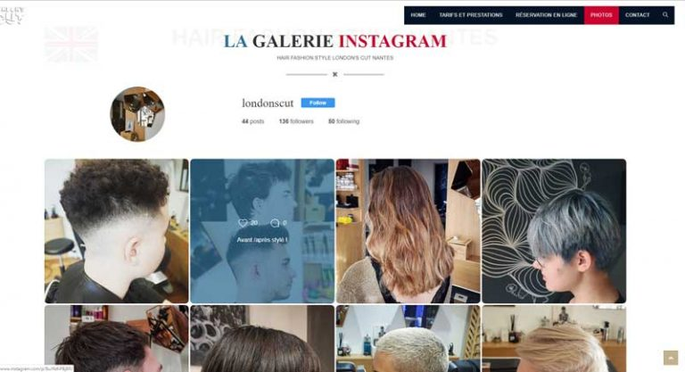 Galerie Instagram site internet london'cut