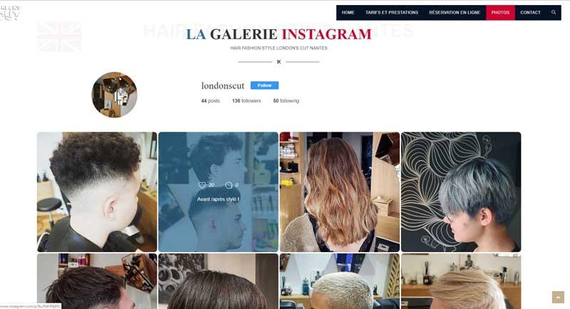 Galerie Instagram site internet london'cut