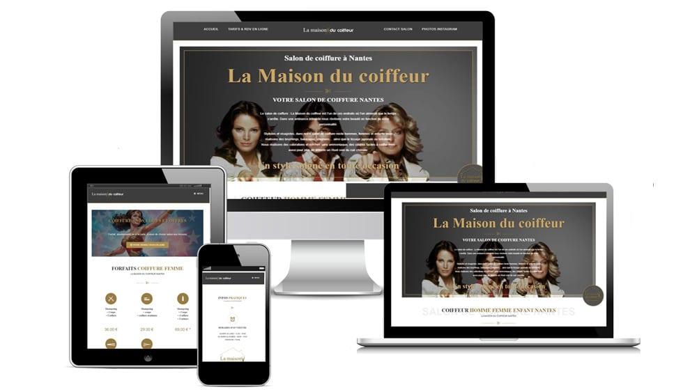 Refonte du site Web La Maison du coiffeur Nantes