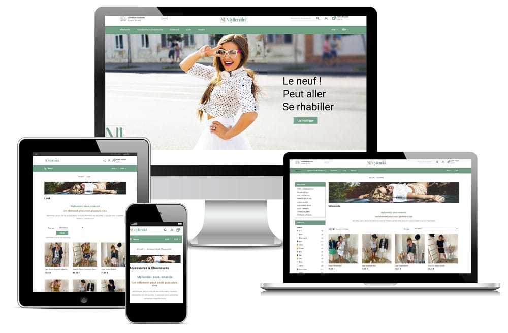 Conception magasin E-commerce PrestaShop Myllennial