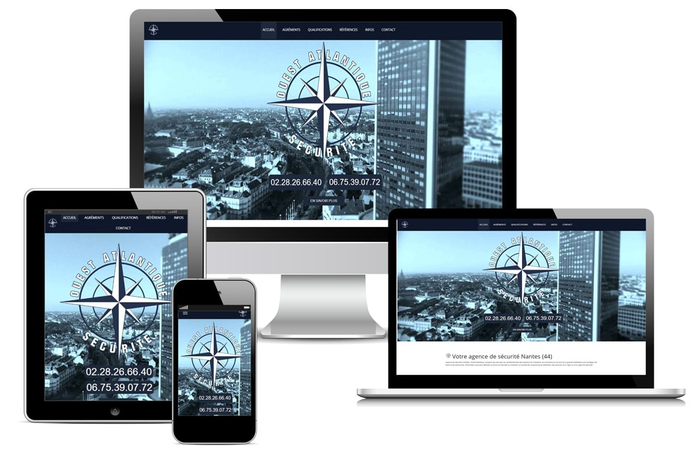 Création Site Internet Ouest Atlantique Sécurité Nantes